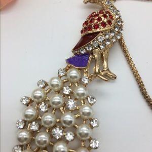 NWOT amazing peacock necklace